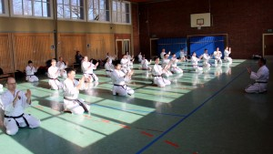 """Als Interpretation des Namens der KATA Meikyō wird sehr oft """"Spiegel der Seele"""" angegeben, der Kämpfer soll also in der Übung sich selbst erkennen."""